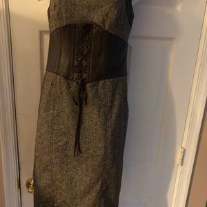 Be be leather and tweed  corse dress